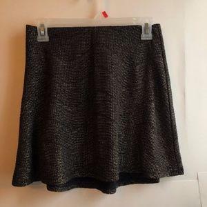 NEW BCBGENERATION Black Gold Sparkle Glitter Skirt
